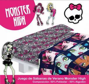 JUEGO SABANAS MONSTER HIGH