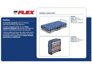 FLEX CAMA PLEGABLE DELTA