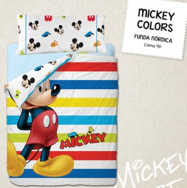 FUNDA NORDICA MICKEY COLORS