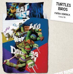 FUNDA NORDICA TURTLES BROS