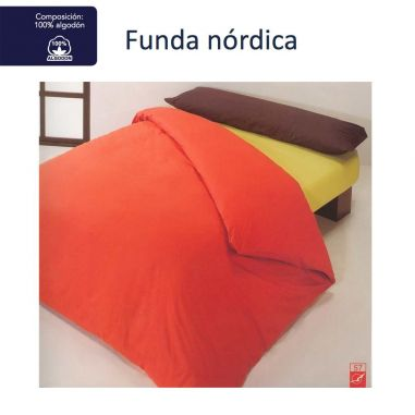FUNDA NORDICA LISA 100% ALGODÓN