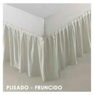 CUBRECANAPÉ COLOR PLISADO-FRUNCIDO
